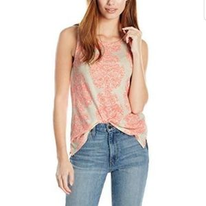 NWT Lucky Brand Neon Woodblock Tank Round Neck